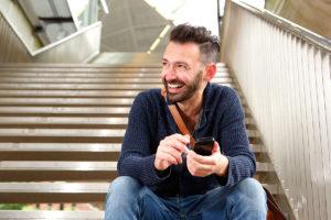 Man enjoying life after rehab through sober living homes